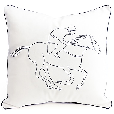 Pemberley Rose Racehorse Cotton Pillow Cover
