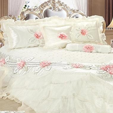 Tache Home Fashion Delicate Luxurious 6 Piece Comforter Set; California King