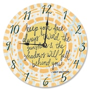 Stupell Industries 12'' Keep Your Face Toward the Sunshine Watercolors Vanity Clock