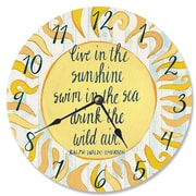 Stupell Industries 12'' Live in the Sunshine Swim in the Sea Vanity Clock