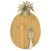 Boston Warehouse Trading Corp Pineapple 2 Piece Cheeseboard and Spreader Set