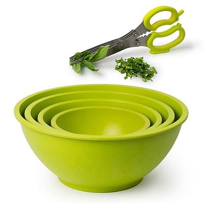Architec Homegrown Gourmet 5 Piece Bamboo Fiber Bowl Set