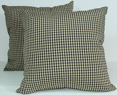 RLF Home Colburn Throw Pillow (Set of 2); Charcoal