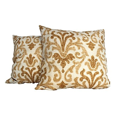 RLF Home Tracery Throw Pillow (Set of 2); Gold