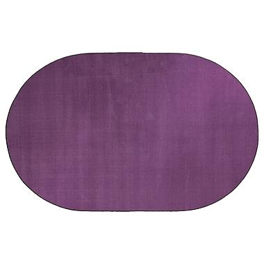 Flagship Carpets Americolors Pretty Purple Area Rug; Oval 6' x 9'