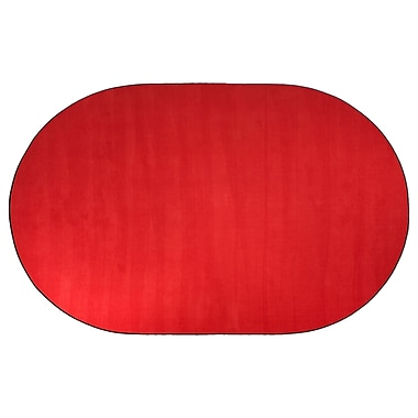 Flagship Carpets Americolors Rowdy Red Area Rug; Oval 12' x 15'