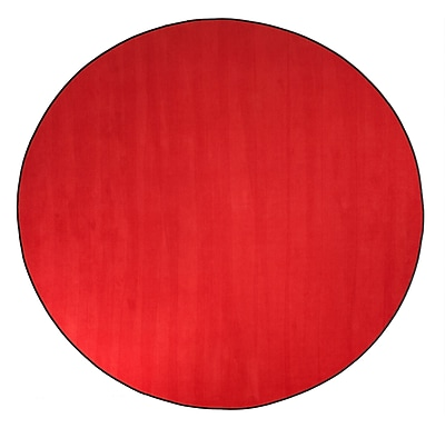 Flagship Carpets Americolors Rowdy Red Area Rug; Round 6'