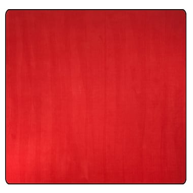 Flagship Carpets Americolors Rowdy Red Area Rug; Square 6'