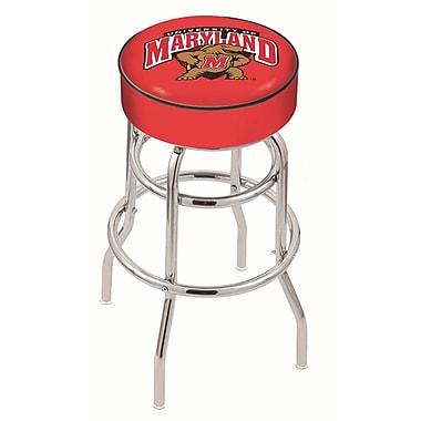 Holland Bar Stool NCAA 25'' Swivel Bar Stool; Maryland Terrapins