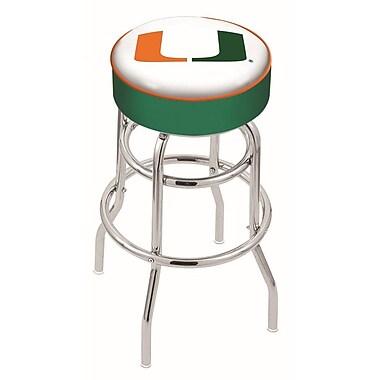 Holland Bar Stool NCAA 25'' Swivel Bar Stool; Miami Hurricanes