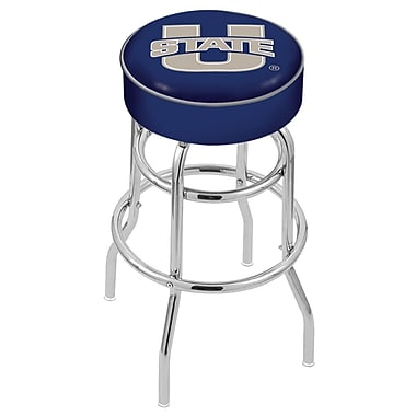 Holland Bar Stool NCAA 25'' Swivel Bar Stool; Utah State Aggies