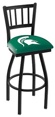 Holland Bar Stool NCAA 44'' Swivel Bar Stool; Michigan State Spartans
