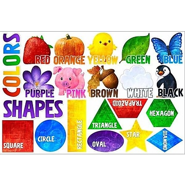 IStickUp Shapes and Colors Wall Decal; 19'' H x 30'' W