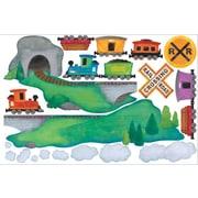 IStickUp Train Ride Wall Decal; 19'' H x 30'' W