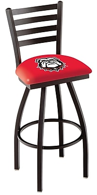 Holland Bar Stool NCAA 44'' Swivel Bar Stool; Georgia Bulldogs- Dog