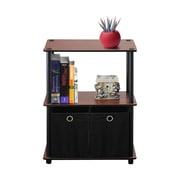 Wildon Home   30'' Etagere Bookcase; Dark Cherry / Black