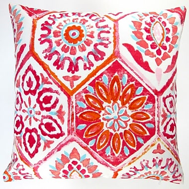 Abstract Geometric Caribbean Beach House Modern Indoor/Outdoor Pillow Cover (Set of 2)