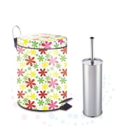 Heim Concept Printed 2-Piece Plastic Trash Can Set