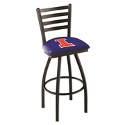 Holland Bar Stool NCAA 44'' Swivel Bar Stool; Illinois Fighting Illini