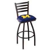 Holland Bar Stool NCAA 44'' Swivel Bar Stool; Michigan Wolverines