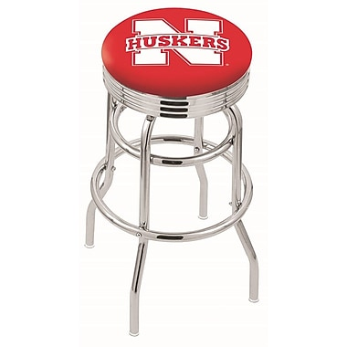 Holland Bar Stool NCAA Swivel Bar Stool; Nebraska Cornhuskers