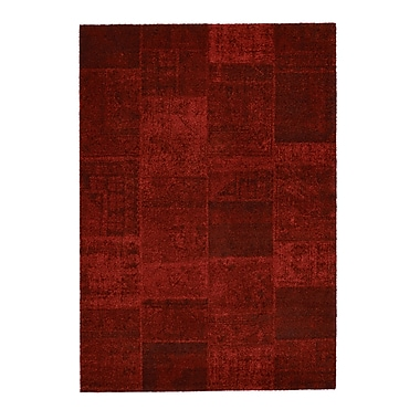 Rug Modern Downtown Red Area Rug; 7'10'' x 11'2''