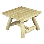 Rustic Cedar Square Cedar Coffee Table; Natural