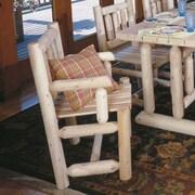 Rustic Cedar Cedar Captain's Dining Arm Chair; Natural