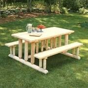Rustic Cedar Deluxe Cedar Picnic Table; Natural