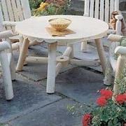 Rustic Cedar Round Cedar Coffee Table; Natural