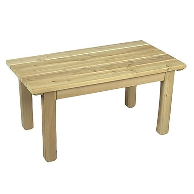 Rustic Cedar English Cedar Coffee Table; Clear Coat