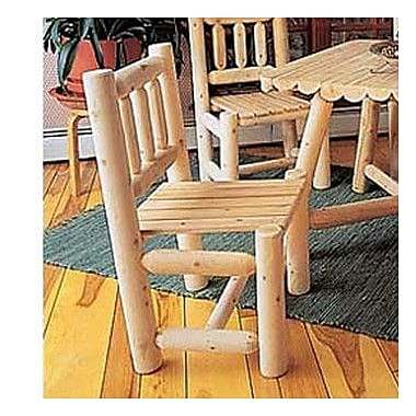 Rustic Cedar Cedar Dining Side Chair; Natural