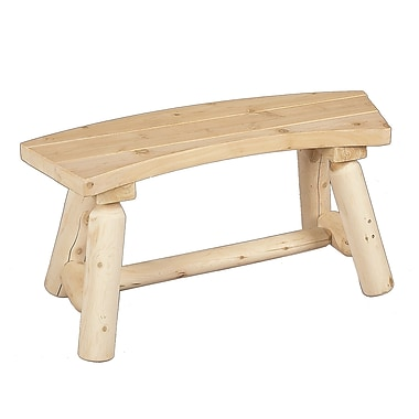 Rustic Cedar Curved Wood Picnic Bench; Natural