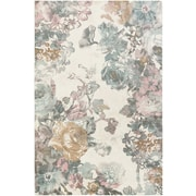 Artistic Weavers Madeline London Gray/Pink Area Rug; Rectangle 2' x 3'
