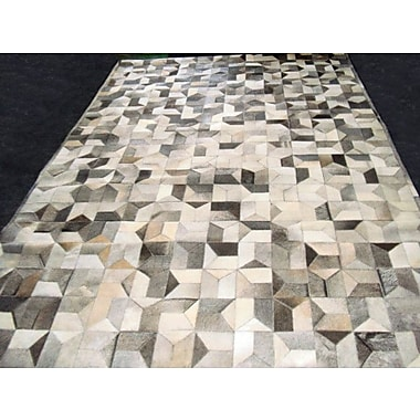 Modern Rugs Patchwork Multi Geo Gray Area Rug; Rectangle 4' x 6'