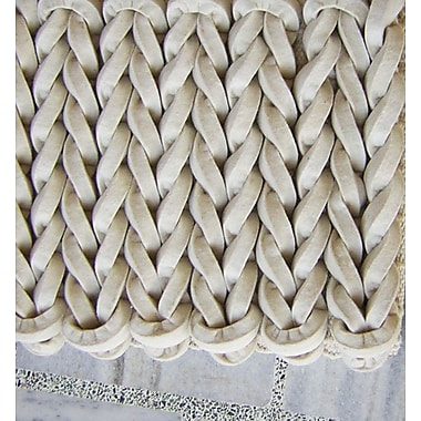 Modern Rugs Braided White Area Rug; Rectangle 9' x 12'