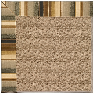 Capel Zoe Machine Tufted Cinders/Brown Indoor/Outdoor Area Rug; Rectangle 3' x 5'