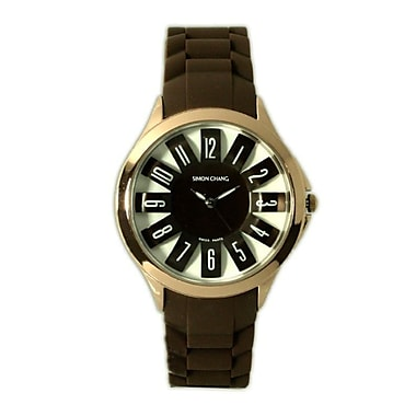 Simon Chang – Montre exclusive de la collection Star, unisexe, brun (SC198.0 BRN)