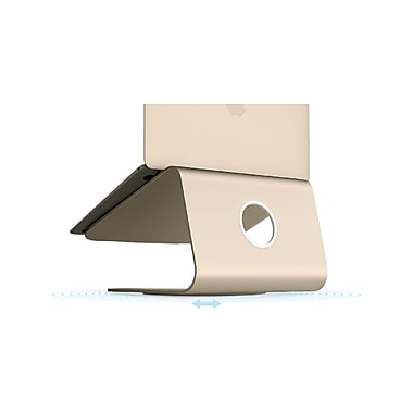 Rain Design mStand 360 Laptop Stand, w/ Swivel Base, Gold (10073)