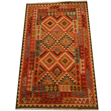 Herat Oriental Kilim Hand-Woven Red/Brown Area Rug