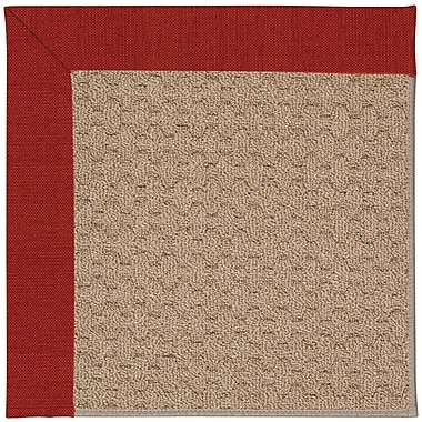 Capel Zoe Grassy Mountain Machine Tufted Tomatoes/Brown Indoor/Outdoor Area Rug; Square 8'
