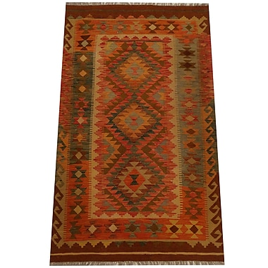 Herat Oriental Kilim Hand-Woven Red/Gold Area Rug