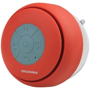 Sylvania Sp230-red Bluetooth® Suction Cup Shower Speaker (red)