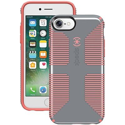 SPECK 79239-B994 iPhone® 7 CandyShell® Grip Case (Nickel Gray/Warning Orange)