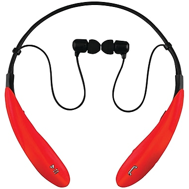 Supersonic Iq-127bt Red Iq-127 Bluetooth® Headphones With Microphone (red)
