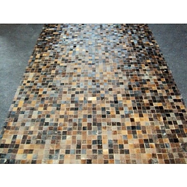 Modern Rugs Patchwork Baltic Brown Area Rug; Square 6'
