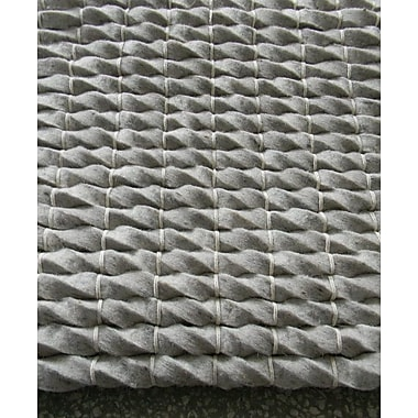 Modern Rugs Tides Silver Area Rug; Rectangle 4' x 6'