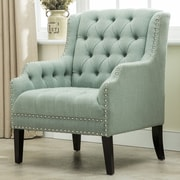 Best Quality Furniture Denim Fabric Armchair; Celadon