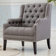 Best Quality Furniture Denim Fabric Armchair; Gray