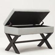 Best Quality Furniture Storage Bedroom Bench; Light Gray
